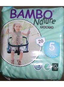 CULOTTES x20 PANTS N°5  (12 - 20KG) JUNIOR  Bambo Nature