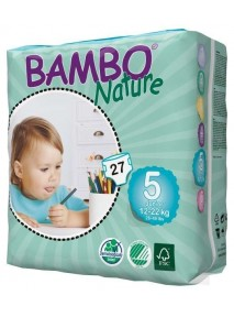 COUCHES (12-22 KG) BAMBO NATURE JUNIORS  N° 5