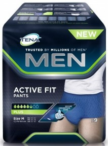 Slips absorbants x9 (Médium) ACTIVE FIT TENA MEN