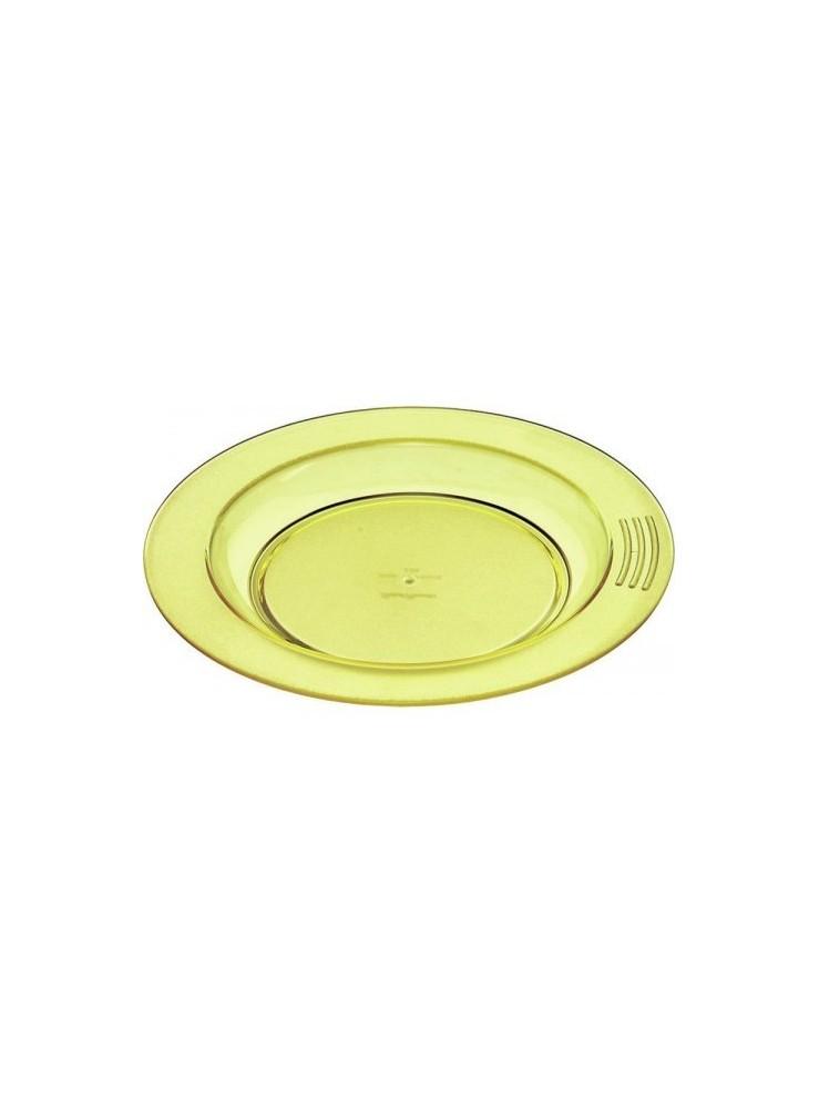 assiette demi creuse jaune