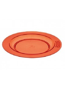 Assiette demi creuse orange