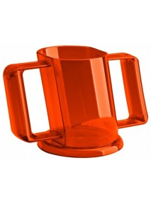 VERRE HANDICUP COUVERCLE ORANGE