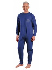 Pyjama grenouillère mixte manches et jambes longue (T3) interlok