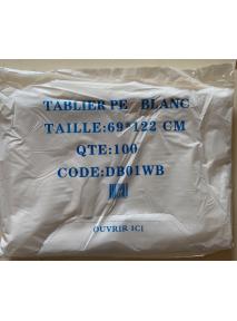 Tablier de Protection multi-usages en PE Blanc (x100)
