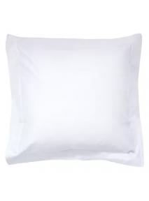 Taie d'oreiller jetable sans rabat blanche 65 x 65 cm