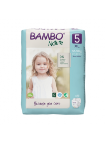 Couches x 22  (12-18 kg) N°5 Bambo Nature Abena