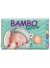 x24 Couches bébé 1 à 3 kgs - BAMBO NATURE