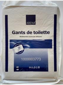 Abena - Gants de toilette jetable (x50) Cousu Non Tissé Molletonné